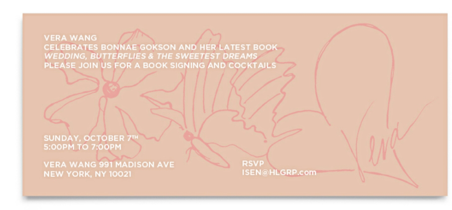 Book Launch of Weddings, Butterflies & the Sweetest Dreams with Vera Wang