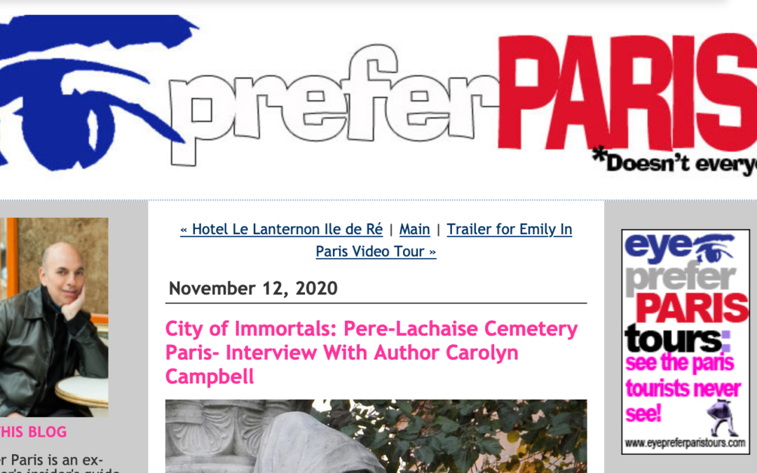 I Prefer Paris interviews City of Immortals author, Carolyn Campbell